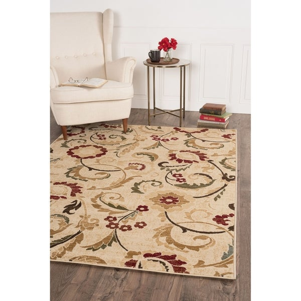 Alise Rugs Lagoon Transitional Floral Area Rug. Opens flyout.