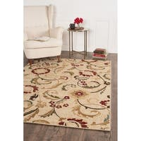 Alise Rugs Lagoon Transitional Floral Area Rug