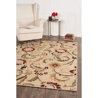 Alise Lagoon Transitional Floral Area Rug (7'6 x 9'10)