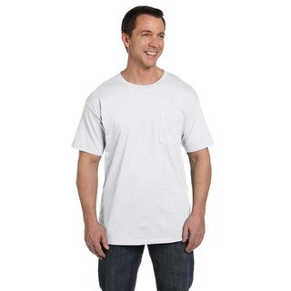 Hanes Men's Beefy-T with Pocket Undershirts (Pack of 6)