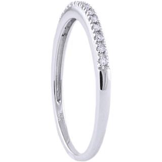 Beverly Hills Charm 10k White Gold 0.06ct TDW Diamond Stackable Wedding Band (H-I, I2-3)