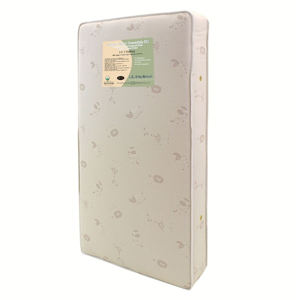Baby Essentials III Breath-Safe 2-in-1 Memory Foam Crib Mattress with Natural Coconut Fiber and Blen