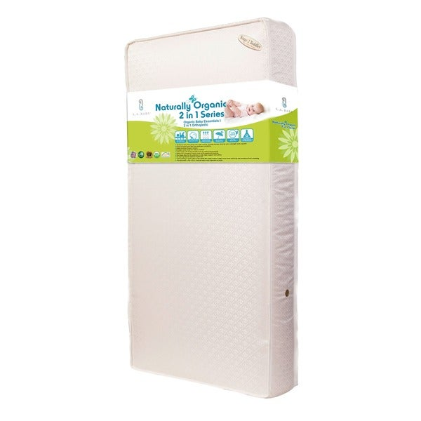 Baby Essentials I 2-in-1 Crib Mattress with Organic Cotton Layers