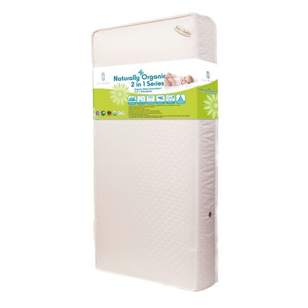 Baby Essentials I 2 In 1 Crib Mattress With Organic Cotton