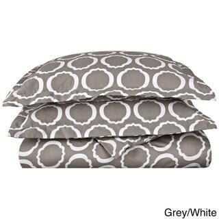Superior 600 Thread Count Scroll Park Cotton Blend Duvet Cover Set