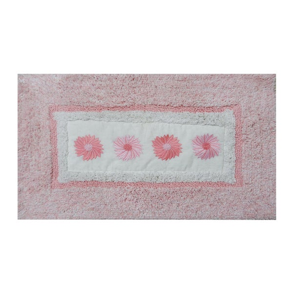 Shop Embroidery Pink Daisy 21 X 34 Bath Rug