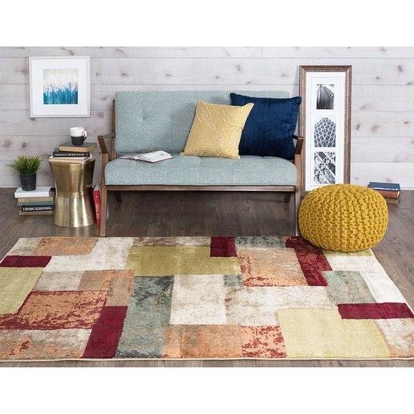 Alise Decora Multi Contemporary Area Rug 3 Piece Set - 5' x 7'