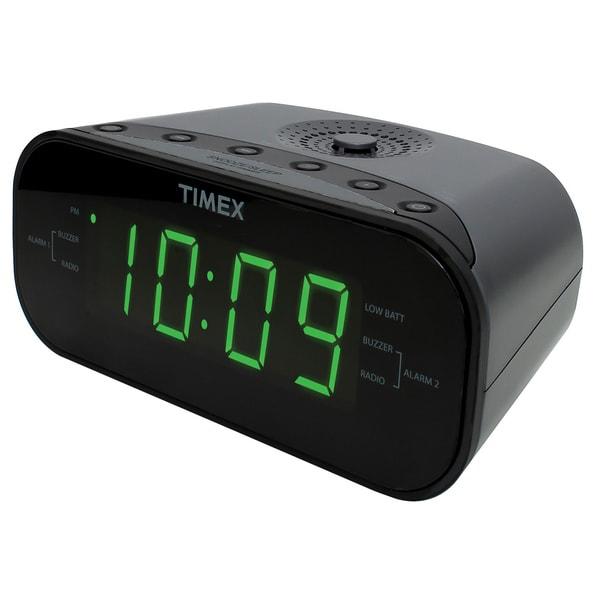 Shop Timex Large Display Led Dual Alarm Clock Radio Free