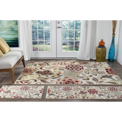 Alise Rugs Decora Contemporary Abstract Runner Rug