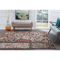 Alise Decora Brown Transitional Area Rug 3 Piece Set
