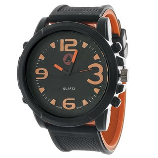 Airwalk Men's Sport Round Rubber Strap Watch