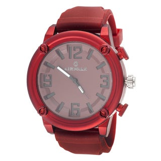 Airwalk Elegant Round Watch with Red Rubber Strap