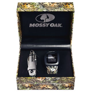 Mossy Oak Men's Official Camo Infinity Digital Watch with Knife Set