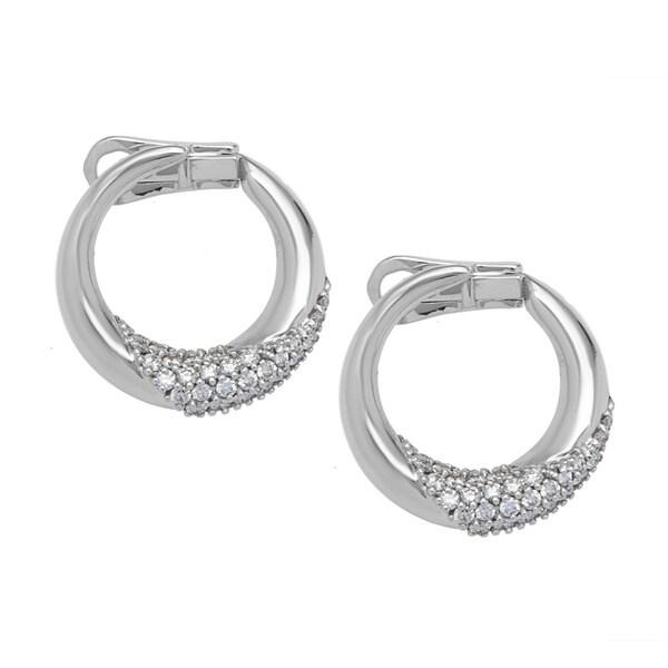 Damiani Estate 18K White Gold Black Diamond Earrings zEuwHV1cn