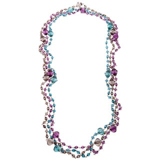 Alexa Starr Set of Three Faceted Lucite Bead Fashion Necklaces