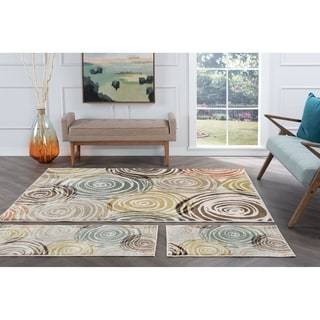 Alise Decora Ivory Contemporary 3-piece Area Rug Set