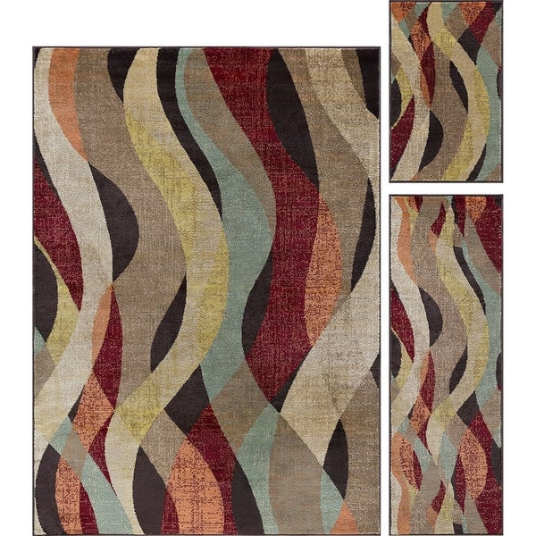 Shop Alise Rugs Decora Transitional Abstract Three Piece