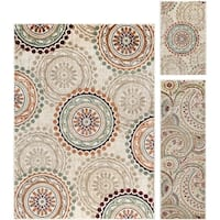 Alise Decora Ivory Transitional 3-piece Area Rug Set - 5' x 7'