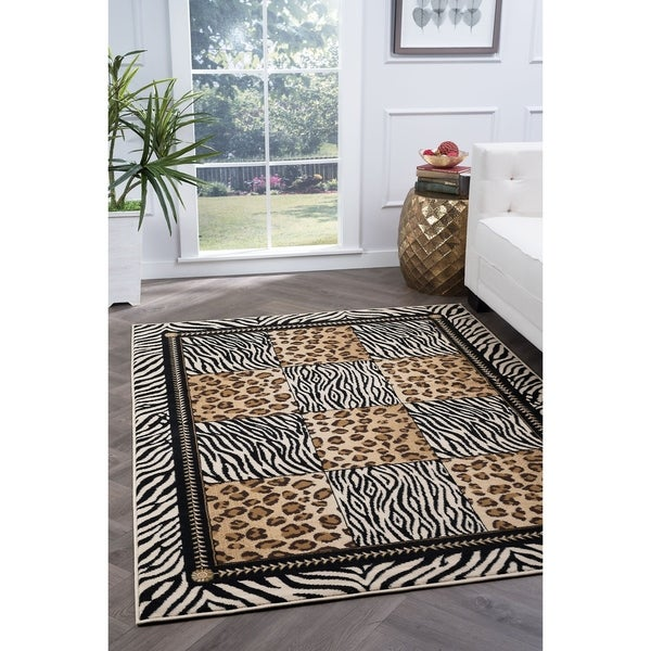 Alise Rugs Lagoon Transitional Animal Area Rug - multi - 7'6 x 9'10