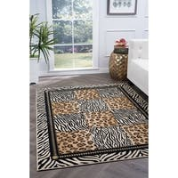 Alise Lagoon Multi Transitional Area Rug - 7'6 x 9'10