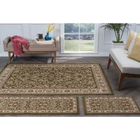 Alise Lagoon Green Traditional Area Rugs (Set of 3) - 5' x 7'