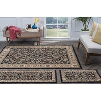 Alise Rugs Lagoon Traditional Oriental Three Piece Set - 5' x 7'