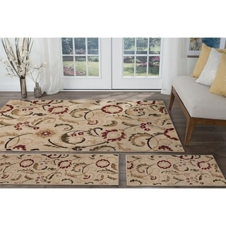 Alise Lagoon Ivory Transitional Area Rugs (Set of 3)