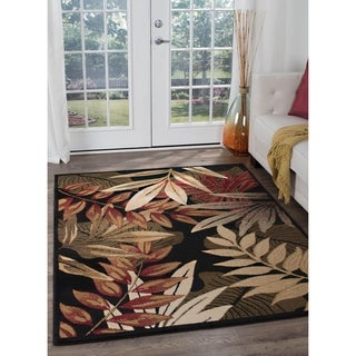Alise Lagoon Black Transitional Area Rug