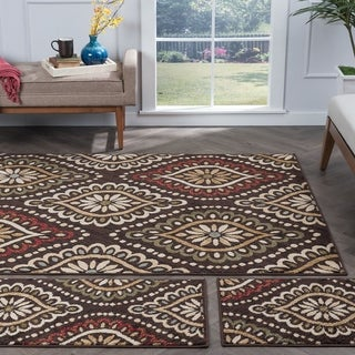 Alise Lagoon Brown Transitional Area Rugs (Set of 3)