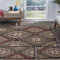 Alise Lagoon Brown Transitional Area Rugs (Set of 3) - 5' x 7'
