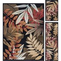 Havenside Home Maimi Black Transitional Area Rugs (Set of 3) - 5' x 7'