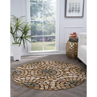Alise Lagoon Multi Transitional Area Rug - 7'10