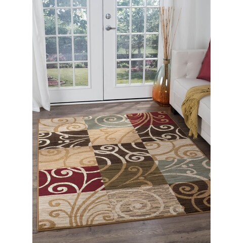 Alise Rugs Lagoon Transitional Geometric Area Rug - multi - 7'6 x 9'10