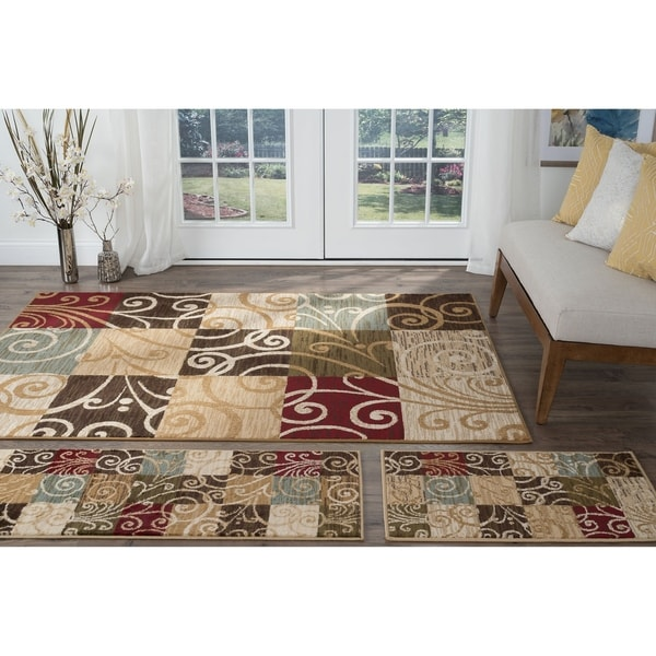 Shop Alise Lagoon Multi Transitional Area Rugs Set Of 3