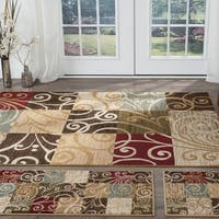 Alise Rugs Lagoon Transitional Geometric Three Piece Set - 5' x 7'