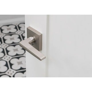 Sure-Loc Modern Square Satin Nickel Door Lever