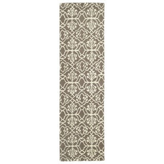 Runway Light Brown/Ivory Hand-tufted Wool Rug (2'3' x 8')