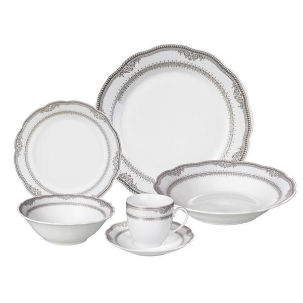Lorren Home Trends u0026#x27;Victoriau0026#x27; 24-piece Porcelain Dinnerware  sc 1 st  Overstock.com & Lorren Home Trends u0027Victoriau0027 24-piece Porcelain Dinnerware Set ...