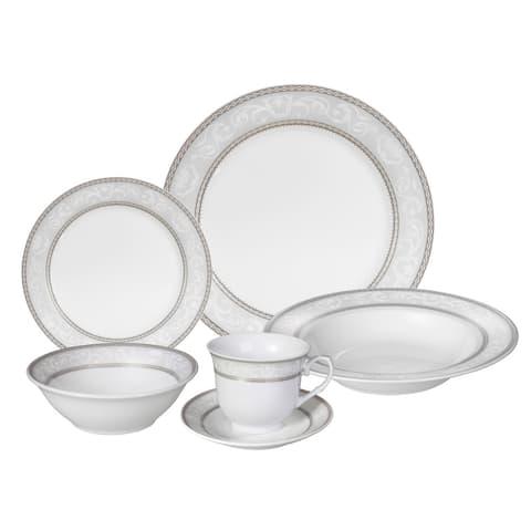 Lorren Home Trends 'Sirena' 24-piece Porcelain Dinnerware Set