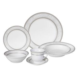 Link to Lorren Home Trends 'Sirena' 24-piece Porcelain Dinnerware Set Similar Items in Dinnerware