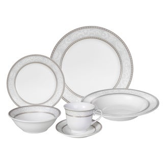Lorren Home Trends 'Sirena' 24-piece Porcelain Dinnerware Set