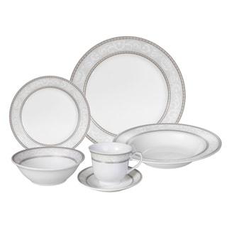 Lorren Home Trends \u0026#x27;Sirena\u0026#x27; 24-piece Porcelain Dinnerware  sc 1 st  Overstock & Lorren Home Trends \u0027Sirena\u0027 24-piece Porcelain Dinnerware Set ...