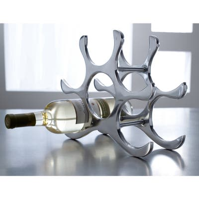 Six Bottle Aluminum Wine Rack