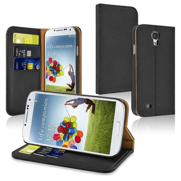 INSTEN Stand Wallet Leather Case with Card Slots for Samsung Galaxy S4/ S IV