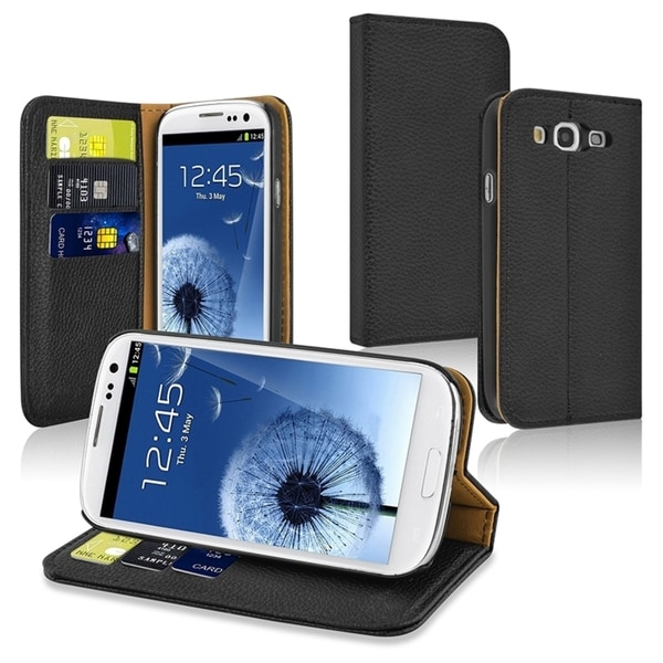 INSTEN Stand Wallet Leather Case with Card Slots for Samsung Galaxy S3/ S III i9300