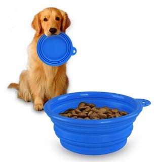 Insten Food Grade Silicone Collapsible Pet Water and Food Bowl