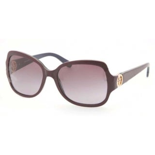 Tory Burch Women's 'TY7059' Plum Plastic Sunglasses
