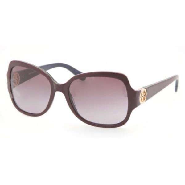 d57a33b608f0 Shop Tory Burch Women's 'TY7059' Plum Plastic Sunglasses - Ships To ...
