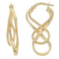 Fremada 10k White Gold Double Infinity Hoop Earrings