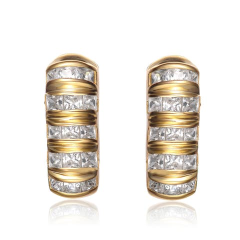 Collette Z Gold-plated Sterling Silver Cubic Zirconia Earrings